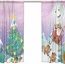 FFY Go Voile-Vorhang Weihnachten mit