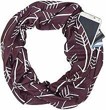 Ffzhushengmy Schal Schal-Reißverschlusstasche