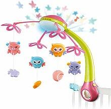 FGASAD Baby Musik-Mobile mit Fernbedienung,