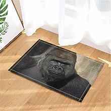 fgdgbvbn Gorilla Badteppiche Rutschfeste Fußmatte