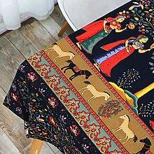 FGHOMEAQZB Böhmische Mode Tischdecke Baumwolle