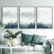 FGHSD Kunstplakat Moderne Ruhe Landschaft Wald