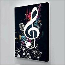 FGHSD Kunstplakat Musik Symbol Bild Moderne Kunst