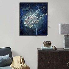 FGHSD Leinwand Wandkunst Abstrakt Blütenblatt