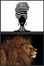 FGHSD Leinwanddruck Abstrakte Löwenölgemälde