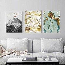 FGHSD Leinwanddruck Impressionist Berglandschaft