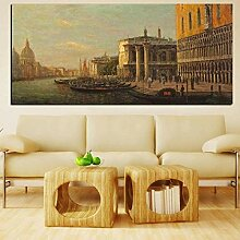 FGHSD Leinwanddruck Klassische Stadt Venedig