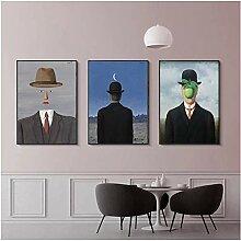 FGHSD Leinwanddruck Magritte Künstler Malerei
