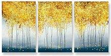 FGHSD Plakat Bild Abstrakte goldene Malerei Plakat