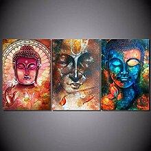 FGHSD Wandkunst Bild Buddha Bild Porträt