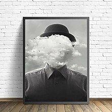 FGHSD Wandkunst Bild Surreale Konzept Mann mit