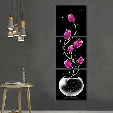 FGHSD Wandkunst Bild Version Vase mit Rose