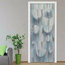 FGPXCD Türaufkleber 3D Tür Wandbild Abstrakte