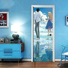 FGPXCD Türaufkleber 3D Tür Wandbild Anime