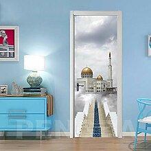 FGPXCD Türaufkleber 3D Tür Wandbild Architektur
