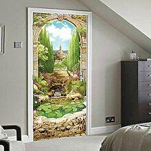 FGPXCD Türaufkleber 3D Tür Wandbild Einfache