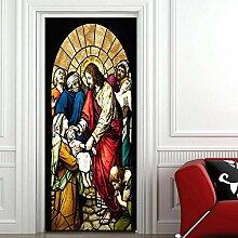 FGPXCD Türaufkleber 3D Tür Wandbild Europäische