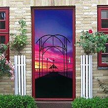 FGPXCD Türaufkleber 3D Tür Wandbild