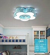 FGSGZ Deckenleuchte Led Kinder Lampe Schlafzimmer Kreative Spielplatz Blau Tricolor Dimmen Durchmesser 46CM