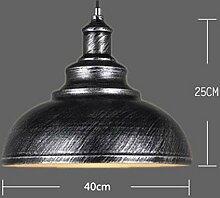 FGSGZ Retro Ventilator Bügeleisen Kronleuchter Kreativität Deckel Leicht Farbe Silber Schwarz 40 * 25CM