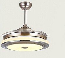 FGSGZ Ventilator Kronleuchter Stealth LED Home Decor Verfärbung Remote Switch + Wand Durchmesser 91 Cm