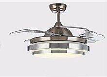 FGSGZ Ventilator Kronleuchter Stealth LED Home Decor Verfärbung Remote Switch Durchmesser 92 Cm