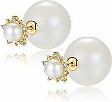 FGTYJ Ohrringe Perlenohrringe Eingelegt Einfach