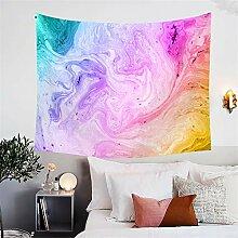 FGVBWE4R Regenbogen abstrakte Aquarell Wandteppich