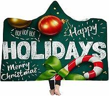 FGVBWE4R Weihnachtsmann Elch Throw Blanket Plaids