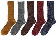 FH Warme Socken, 5 Paare Mode Socken Komfort