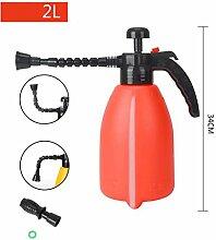 FHK Gießkannen Wanxiang Kopf Haus Gartenarbeit Bewässerung Spray Hochdruck Wasser Flasche Druck Bewässerung Spray Flasche Druck Sprinkler Bewässerung des Wasserkochers ( farbe : Rot , größe : 2l )