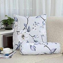 FHK Rückenlehne Baumwoll-Segeltuch-Dreieck-Kissen-Nachttisch-Sofa-Ansatz-Kissen-große Rückenlehnen-Bett-Kissen-Fenster-Kissen Taillenkissen ( Farbe : D , größe : 55*50*30cm )