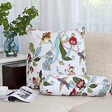 FHK Rückenlehne Baumwoll-Segeltuch-Dreieck-Kissen-Nachttisch-Sofa-Ansatz-Kissen-große Rückenlehnen-Bett-Kissen-Fenster-Kissen Taillenkissen ( Farbe : G , größe : 47*40*25cm )