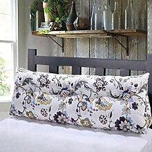 FHK Rückenlehne Baumwoll-Segeltuch-Druck-Dreieck-Kissen-Paar-Bett-großes Kissen-Kissen-Studenten auf der Taillen-Tasche kann gewaschen und gewaschen werden Taillenkissen ( Farbe : H , größe : 180*50*23cm )