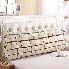 FHK Rückenlehne Baumwoll-Segeltuch-Druck-Dreieck-Kissen-Paar-Bett-großes Kissen-Kissen-Studenten auf der Taillen-Tasche kann gewaschen und gewaschen werden Taillenkissen ( Farbe : B , größe : 150*50*23cm )