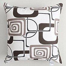 FHK Rückenlehne Baumwolle Segeltuchkissen Einfache Sofa Kissen Büro Bedside Kissen Rückenlehne Kissen Taillenkissen ( Farbe : H , größe : 55*55cm )
