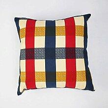 FHK Rückenlehne Baumwolltuch Leinwanddruck / Sofa Kissen / Kissen / Kissen / Kissen / Rücken Pad Taillenkissen ( Farbe : A , größe : 55*55cm )