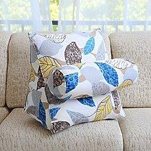FHK Rückenlehne Dreieckige große Rücken Sofa Bedside Kissen Taille Pad Bett Soft Bag Büro Kissen Schwimmende Fenster Kissen zurück Taillenkissen ( Farbe : B , größe : 47*40*25cm )