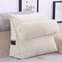 FHK Rückenlehne Einfache vier Jahreszeiten Drei-Bett-Kissen schützen die Nackensofa Kissen Bürostuhl Taille kann gewaschen und gewaschen werden Taillenkissen ( Farbe : C , größe : 45*45*25cm )