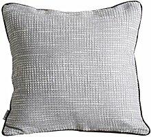 FHK Rückenlehne Feste Farbe gestrickte Rückenlehne Sofa Kissen Kissen Set von Auto Bürokissen Verlassen auf die Taille Kissen 45 * 45cm Taillenkissen ( Farbe : B )
