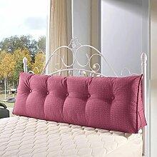 FHK Rückenlehne Flachs Dreieck Kissen Bedside Back Pad Büro Sofa Kissen Bett Kissen kann gewaschen und gewaschen werden Taillenkissen ( Farbe : F , größe : 180*50*20cm )