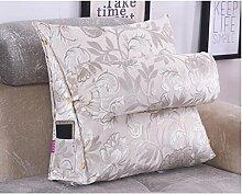 FHK Rückenlehne Jacquard Triangle Bedside Kissen Sofa Kissen Bett Hals Kissen Büro Taille Rücken Pad kann abnehmbar waschbar Taillenkissen ( Farbe : B , größe : 60*50*20cm )