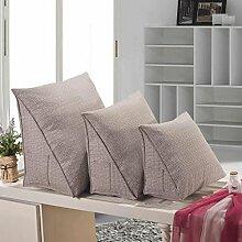 FHK Rückenlehne Kissen Dreieck Kissen Hals Kissen Bucht Fenster Sofa Büro mit Lendenwirbel Kissen Bedside Rückenlehne kann gewaschen und gewaschen werden Taillenkissen ( Farbe : G , größe : 55*50*30cm )