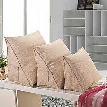 FHK Rückenlehne Kissen Dreieck Kissen Hals Kissen Bucht Fenster Sofa Büro mit Lendenwirbel Kissen Bedside Rückenlehne kann gewaschen und gewaschen werden Taillenkissen ( Farbe : D , größe : 40*30*20cm )