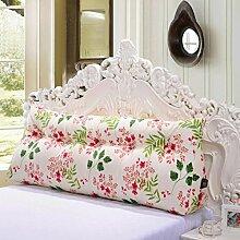 FHK Rückenlehne Lange Kissen Bedside Kissen Baumwolle Active Canvas Dreieck Kissen Bett Kissen Sofa Kissen Taillenkissen ( Farbe : A , größe : 180*55*25cm )