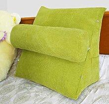 FHK Rückenlehne Nachttisch Stuhl Kissen Dreieck Kissen Sofa Kissen Kissen Büro Back Pad Bett Kissen Taillenkissen ( Farbe : C , größe : 47*45*23cm )