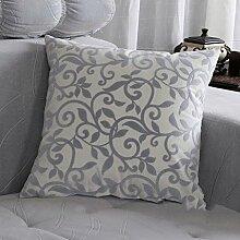FHK Rückenlehne Sofa Kissen Büro Auto Kissen Büro Bett zu erhöhen Dual-Use-Kissen Taillenkissen ( Farbe : A , größe : 60*60cm )