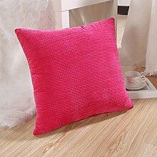 FHK Rückenlehne Sofa Kissen Kissen Samt Sofa Kissen Süßigkeiten Farbe Bedside Kissen Büro Kissen Taillenkissen ( Farbe : D , größe : 50*50cm )