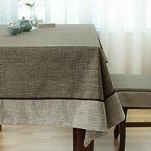FHK Tischdecke Chinesisch Tischdecke Nachahmung Baumwolle Leinen Tisch Tisch Tisch rechteckig Haus klein frisch frische Farbe klassischen Couchtisch Tuch benutzerdefinierte Dekorative Tischdecken ( Farbe : Dark color , größe : 110*170cm )