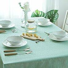 FHK Tischdecke Europäische minimalistische Tuch Tischdecke wasserdicht anti-hot Öl-freie Waschung reine Farbe Tisch Tischdecke rechteckige Kaffee Tuch Dekorative Tischdecken ( Farbe : Blau , größe : 120*120cm )